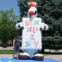 Chick-fil-A Clown Cow Inflatable Character