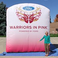 Warriors in Pink Inflatable Billboard