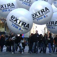 NBC 4 New York Helium Spheres