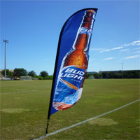 Bud Light Bow Flag Banner