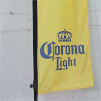 Corona Light Bow Flag Banner