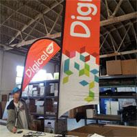 Digicel Bow Flag Banner