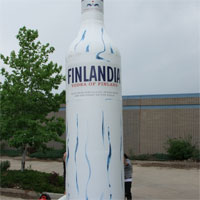 Finlandia Vodka Inflatable Bottle