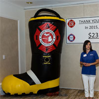 Michigan Fire Fighters Inflatable Donation Boot