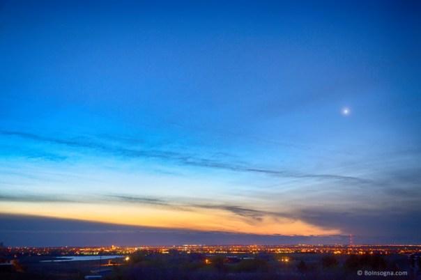 Longmont City Lights and a Venus Morning Sky