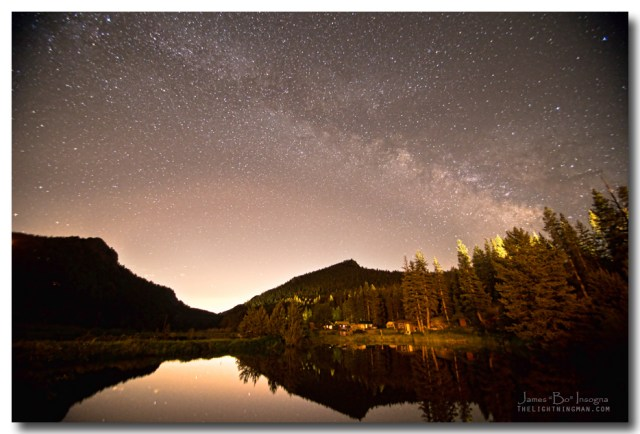 Rural Colorado Rocky Mountain Milky Way View