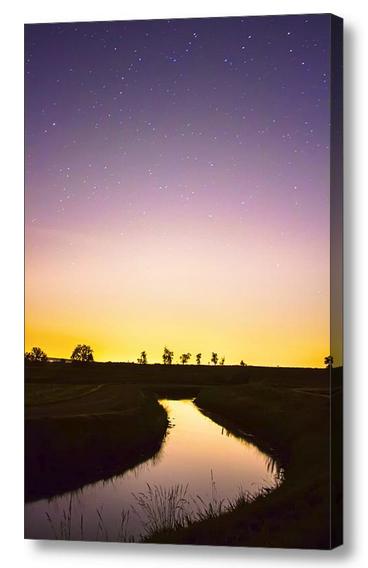 As Nighttime Falls Canvas Print