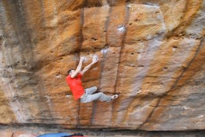James Kassay on Zeus (V13), Grampians, Australia
