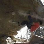 Niky Ceria climbs the dagger 8B+ V14 Cresciano (CH)