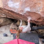 Alex Puccio bouldering in Hueco Tanks 2012