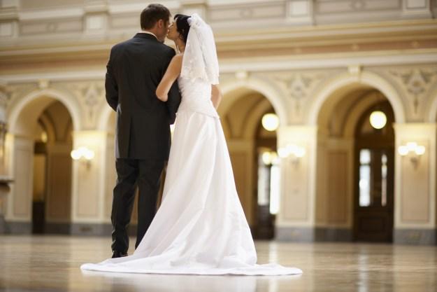 Bride and Bridegroom at Wedding
