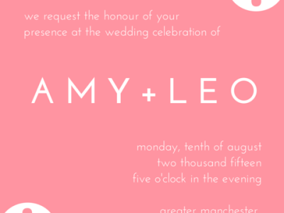 Canva wedding invitation