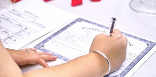 Bride Marriage Certificate