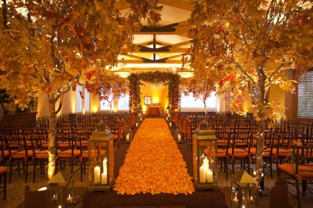Autumn Wedding Aisle