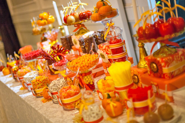 Autumn Wedding Sweets