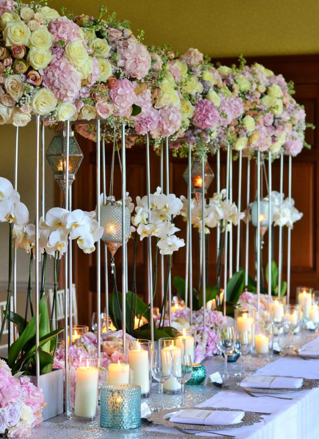 Metallics & Floral Canopy - Bloom Room Studio LTD - Luxe Floral Canopy