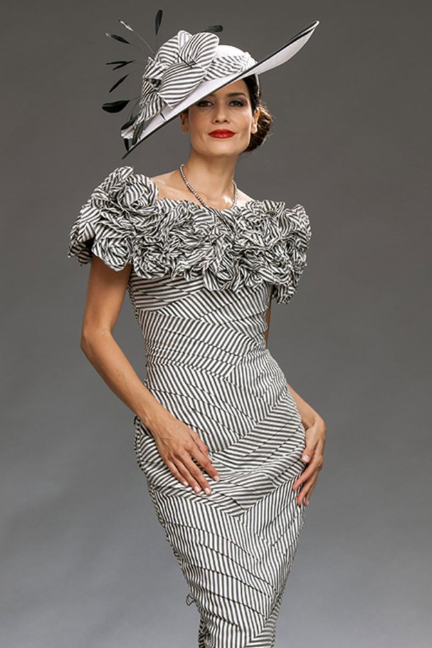 Black and White Stripe Dress - Ian Stuart
