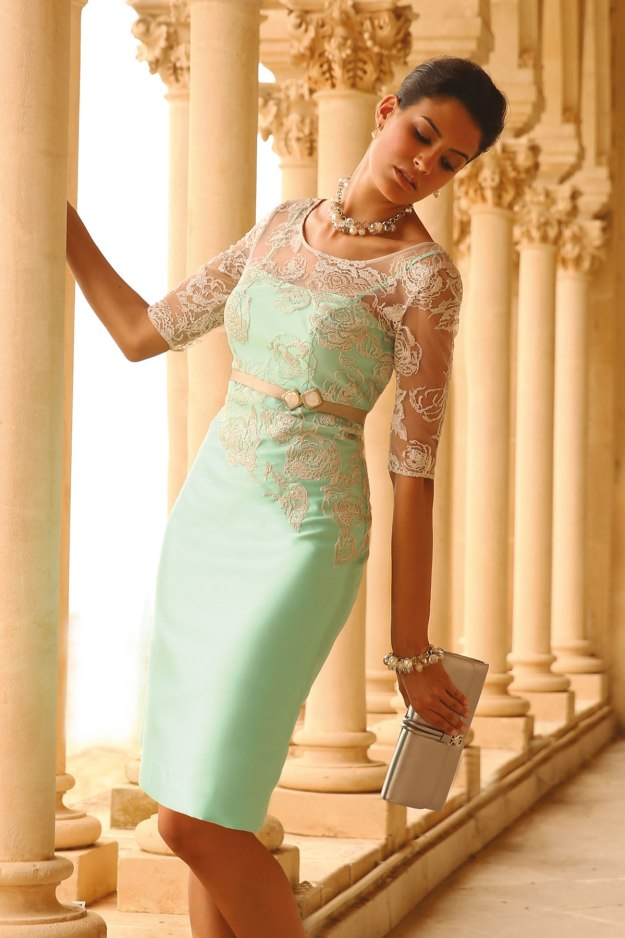 Mint and Mocha Shift Dress - Linea Raffaelli