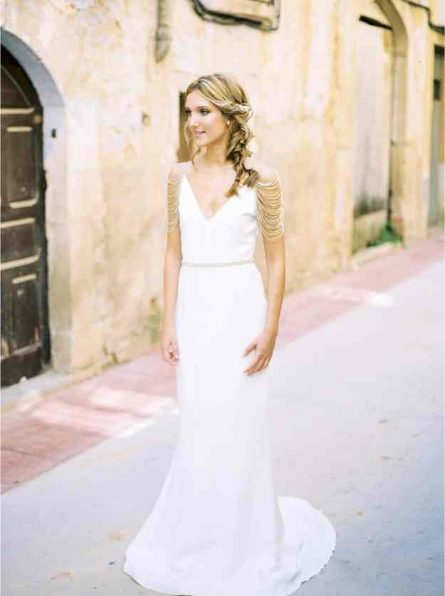 Gold Grecian Wedding Dress