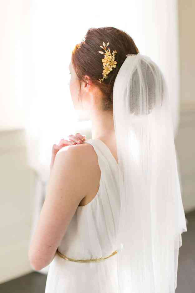 Victoria Millesime - Gold Dust Grecian Tendril Hair Comb - Wedding Accessories