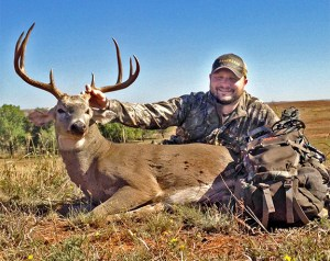 LaCrosse Footwear's Shawn Hansen arrowed this beautiful Sooner State buck on the first evening of hunting at Croton Creek Ranch.
