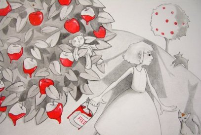 Painting the apples Red