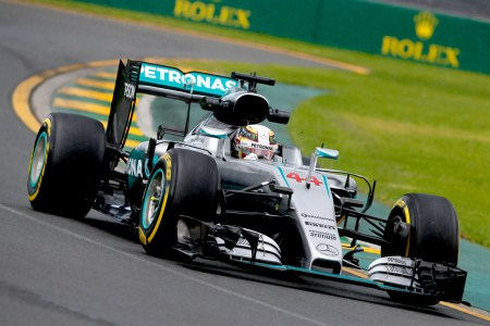 Hamilton sets wet-dry practice pace in Melbourne