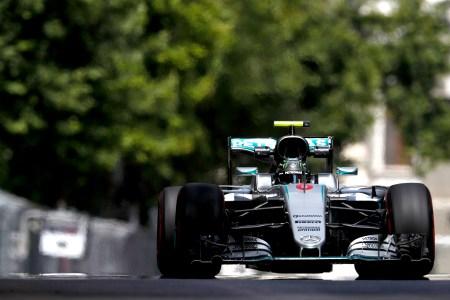 Rosberg on Baku pole after Hamilton crashes out