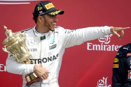 Lewis Hamilton uncontested in home grand prix