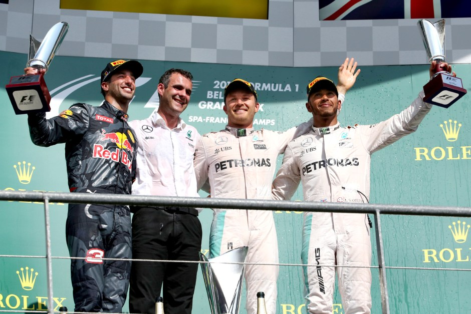 Nico Rosberg wins chatoic Belgian GP