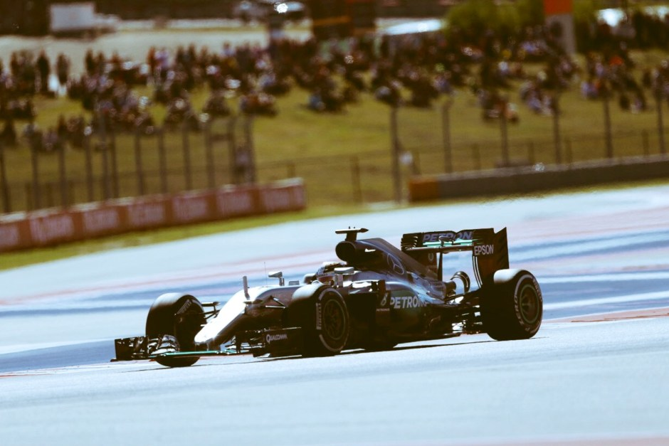 Lewis Hamilton cruised to victory at Austin's Circuit of the Americas.