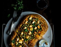 Matar/Peas and Paneer Pizza I Boxofspice