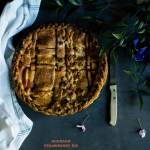 Strawberry Rhubarb Pie with Curry Leaf Butter I Boxofspice