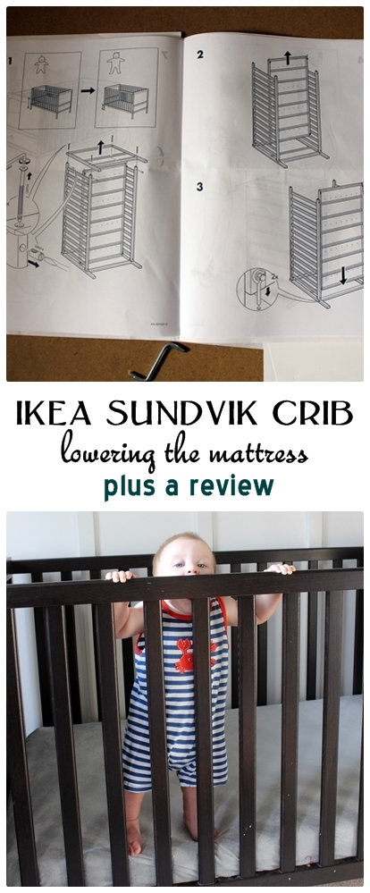 the ikea sundvik crib eight months later a bit of babyproofing. Black Bedroom Furniture Sets. Home Design Ideas