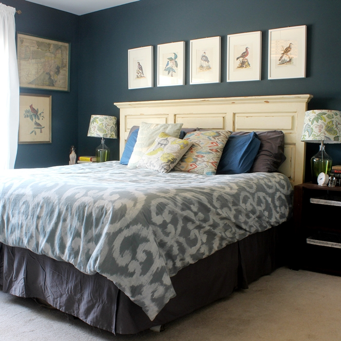 Bird and octopus and dog themed master bedroom tour for Dog themed bedroom ideas