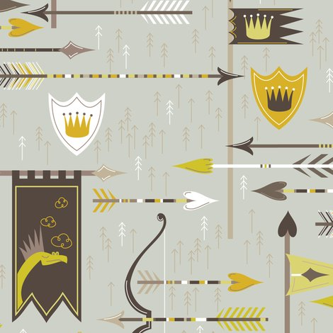 Spoonflower Dragons Court wallpaper