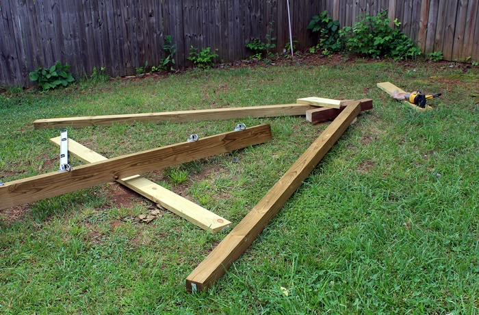A-frame on ground