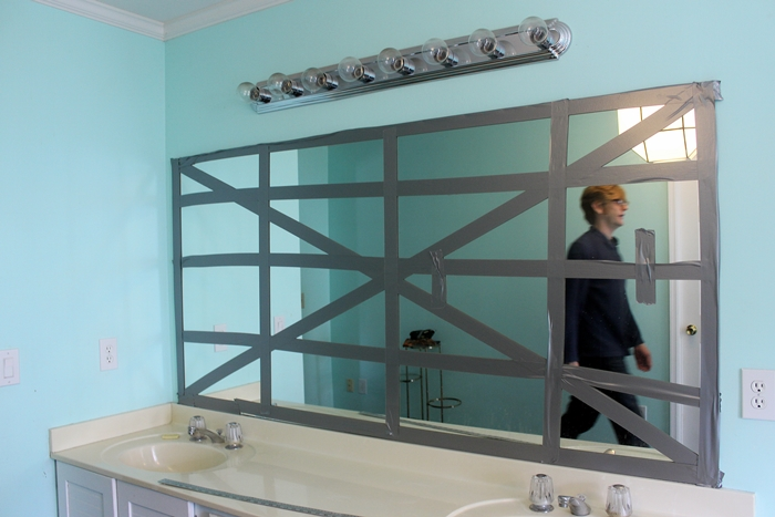 Bathroom Mirror Adhesive how to remove a frameless mirror like a nervous grandma -