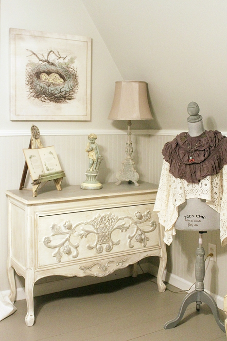 dresser in A-frame cottage