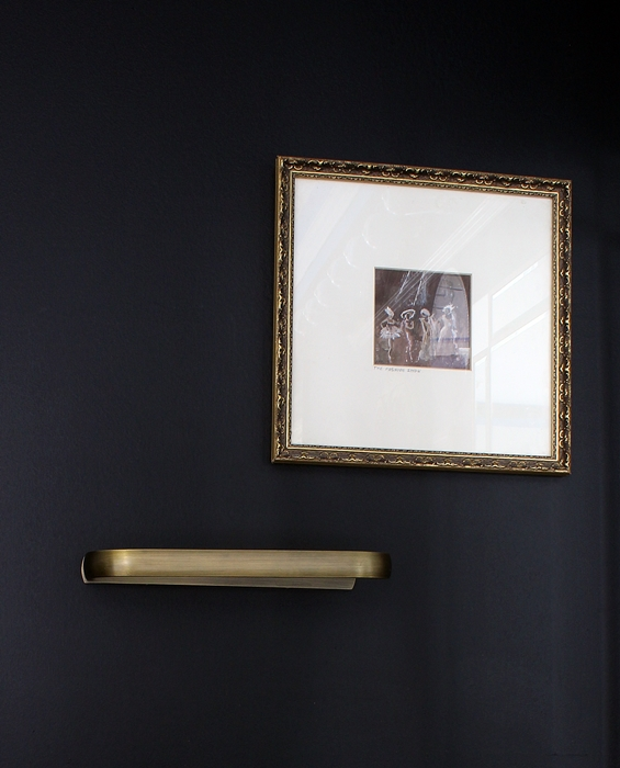 antique brass towel rack