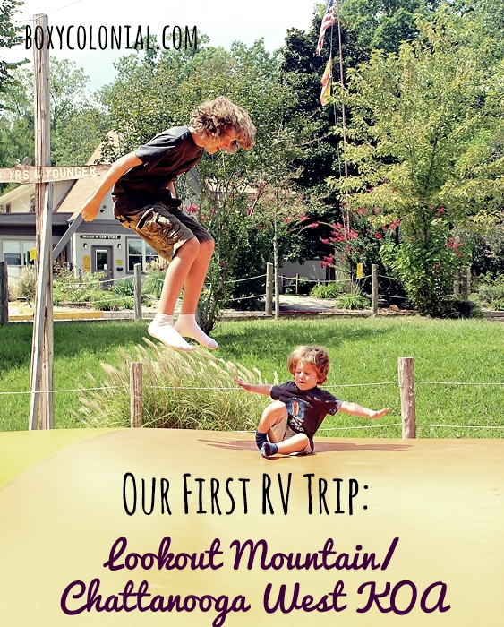 Our first trip with our new travel trailer: a weekend in Chattanooga at the Lookout Mountain/Chattanooga West KOA