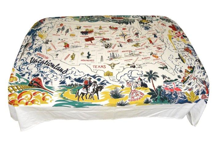 Vacationland Retro Tablecloth