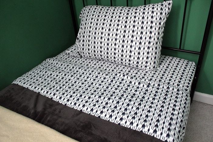 Threshold flannel Ikat sheets