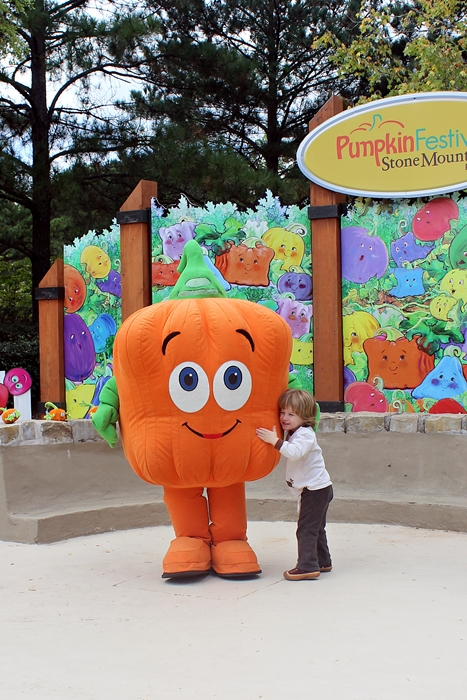 Meeting Spookly at Stone Mountain's Pumpkin Festival
