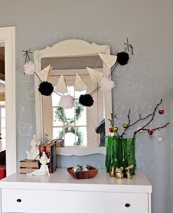 christmas display in foyer
