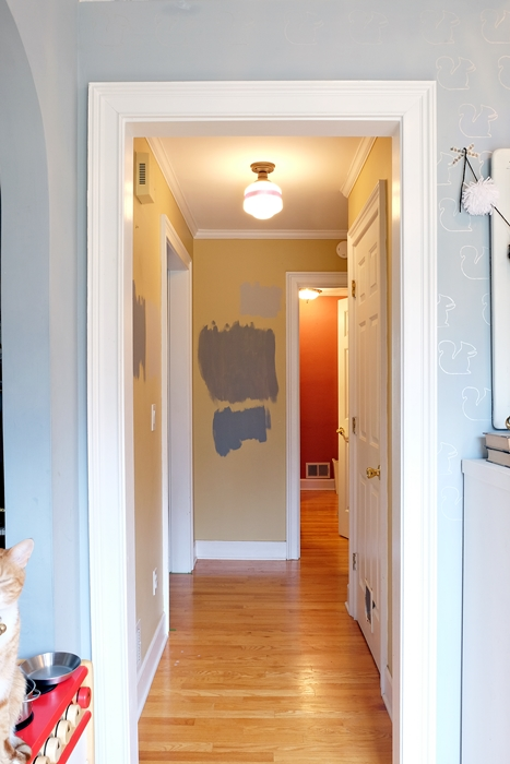 The small hallway plans for a quick makeover fretting over paint color edition - Small entryway paint colors ...