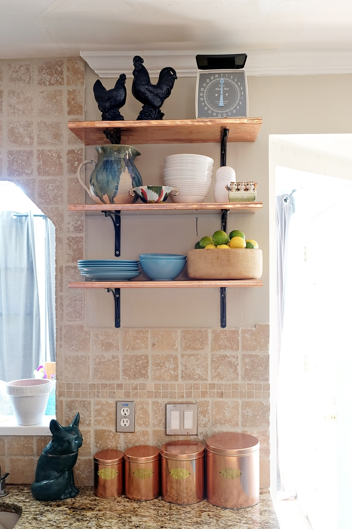 spring copper shelves