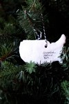 USA Map Christmas ornaments: DIY souvenirs from your summer road trip or other travels