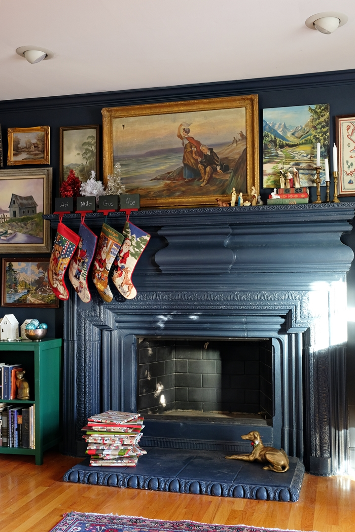 christmas mantel hale navy