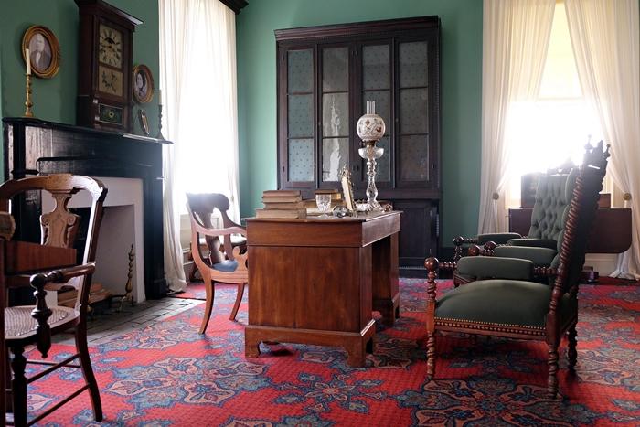 library in boyhood home of woodrow wilson